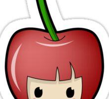 Cherry Kokeshi Doll Sticker