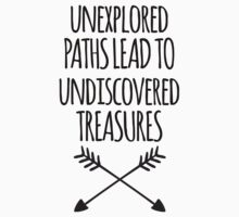 Unexplored Paths Quote Baby Tee