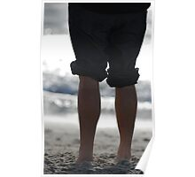Walking on the beach Poster
