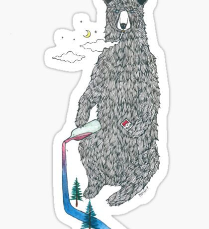 Bear Sesh Sticker