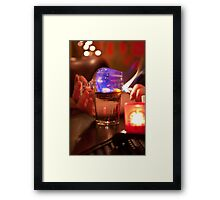 Flaming Cushdy Cocktail Framed Print