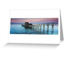 Shelly Beach Boathouse Portsea Greeting Card