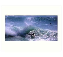 Surfing in Bali, Indonesia Art Print