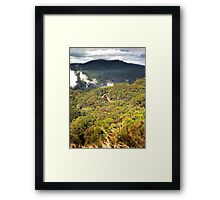 A mountain drive... Framed Print