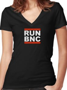 RUN BNC Women's Fitted V-Neck T-Shirt