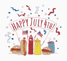 Happy July 4th Picnic  Baby Tee