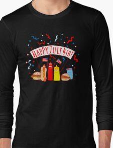 Happy July 4th Picnic  Long Sleeve T-Shirt