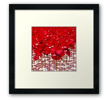 A red poppy day (but not real ones!) Framed Print