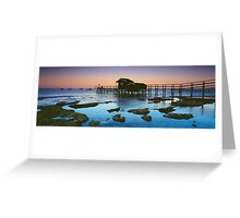Moonlight at Shelly Beach Boathouse Greeting Card