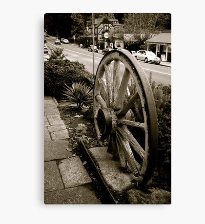 Old wheel,Sassafras,Victoria Canvas Print