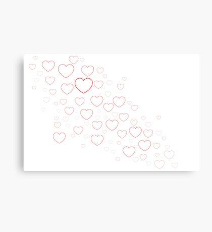 Valentines Hearts Canvas Print