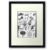 Pen sketching Framed Print