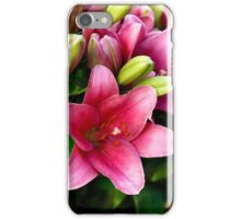 pink with Buds iPhone Case/Skin