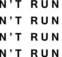 I MUSN'T RUN AWAY Sticker