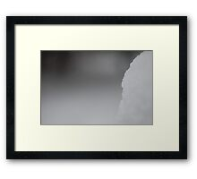 Snow and Background Framed Print