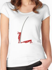 Better out than in? Women's Fitted Scoop T-Shirt
