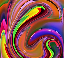 Fluid  Colours 2-Available As Art Prints-Mugs,Cases,Duvets,T Shirts,Stickers,etc by Robert Burns
