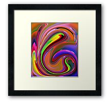 Fluid  Colours 2-Available As Art Prints-Mugs,Cases,Duvets,T Shirts,Stickers,etc Framed Print