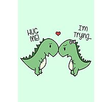 Dino Love! (Hug Me!) Photographic Print