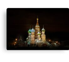 Cathedral of Basil the Blessed. Moscow Canvas Print