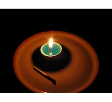 A Power Cut, A Candle Photographic Print
