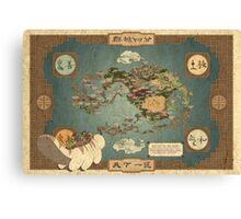 Avatar Map Canvas Print