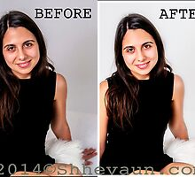 PORTRAIT 1 Before/After Airbrushing by Shevaun  Shh!