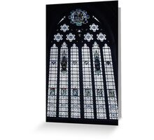 Stained Glass, Bristol Cathedral UK Greeting Card