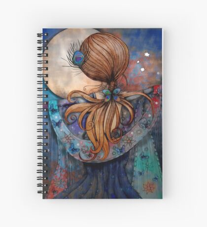 Dancing with the Moon Spiral Notebook