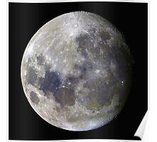 Remote Sensing Moon Poster