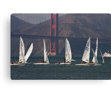 Sailing on the bay part two Canvas Print