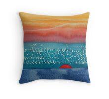 A New Day Dawns original painting Throw Pillow