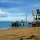Calm Pier by Suzanne German