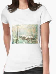 Winter's Kiss Womens Fitted T-Shirt