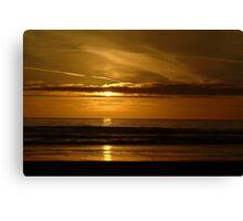 Golden sunset on Stinson Beach Canvas Print