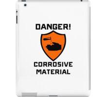 Warning - Danger Corrosive Material iPad Case/Skin