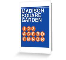 Madison Square Subway Greeting Card
