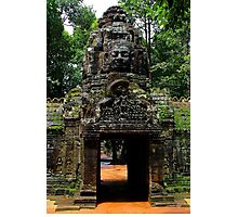 The Banteay Kdei Gate - Angkor, Cambodia. Photographic Print