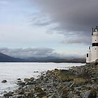 Cloch lighthouse on the river Clyde by andrewm