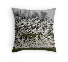 Snow Geese of Skagit Valley Throw Pillow