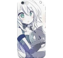 Black Heart (Noire) hugging a cat iPhone Case/Skin