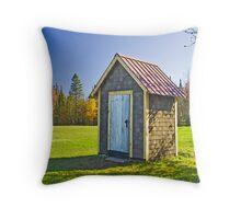 Ontonagon Outhouse Throw Pillow