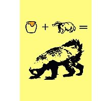 Honey + Badger = Honey Badger Photographic Print