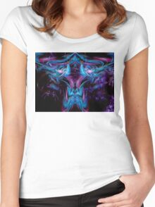 ©DA FS Face Off In Fractal 05V1HDR. Women's Fitted Scoop T-Shirt