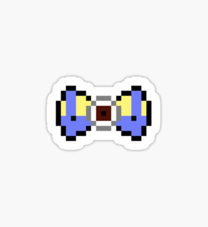 8-Bit Minion Bow Tie Sticker