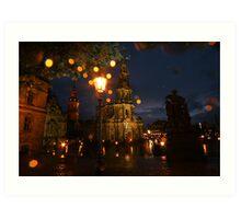 Fresh summer evening in an European city Art Print