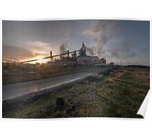 Steel Works ~ TCP Corus Redcar Poster