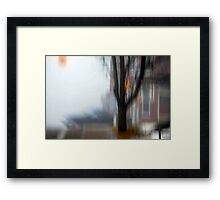Foggy City Framed Print