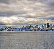 Seattle Washington skyline in HDR by Jeffrey  Sinnock