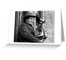 Photo man  Greeting Card